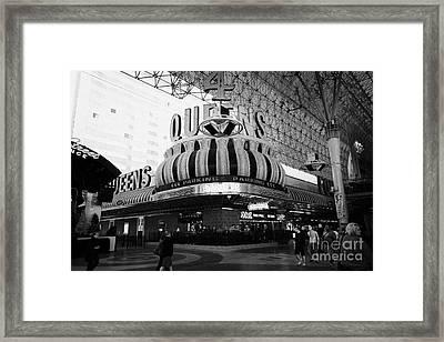 4 Queens Las Vegas Casino Hotel Freemont Street Nevada Usa Framed Print