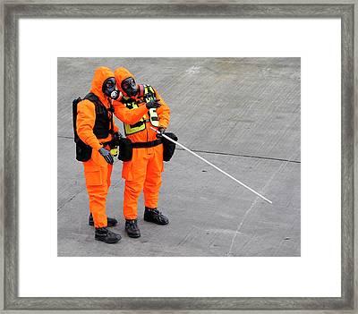 Radiation Emergency Response Training Framed Print