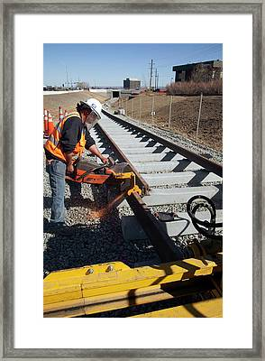 Railway Construction Framed Print by Jim West