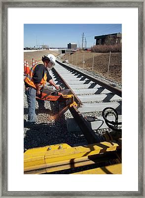 Railway Construction Framed Print