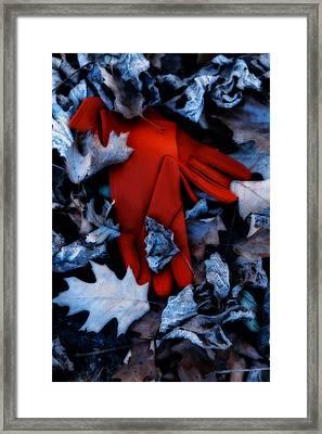 Red Gloves Framed Print by Joana Kruse