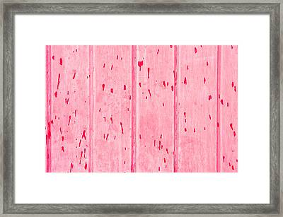 Red Wood Framed Print