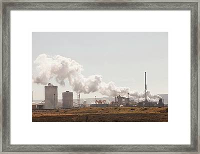 Redcar Steel Works Framed Print by Ashley Cooper