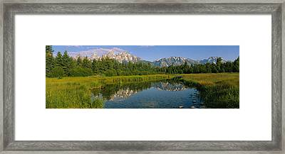 Reflection Of A Mountain In A Lake Framed Print