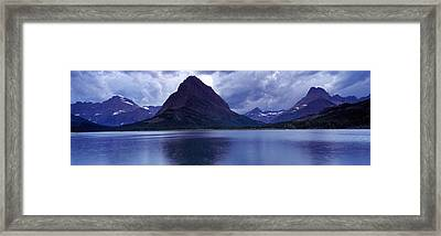 Reflection Of Mountains In A Lake Framed Print by Panoramic Images