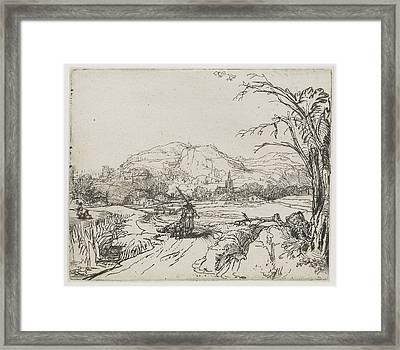 Rembrandt Landscape Sketch Framed Print