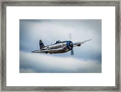 Republic P-47d Thunderbolt Framed Print by Puget  Exposure
