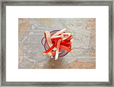 Rhubarb Framed Print by Tom Gowanlock