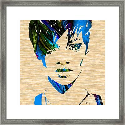 Rihanna Collection Framed Print