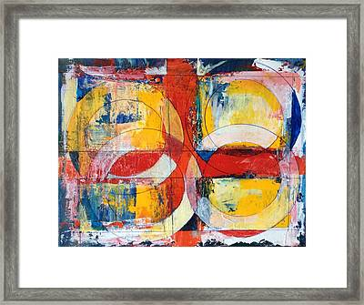4 Rings 4 Squares Framed Print by Mark Opdahl