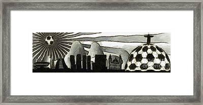 Rio De Janeiro Skyline Framed Print by Michal Boubin