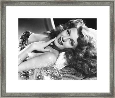 Rita Hayworth, Columbia Portrait Framed Print