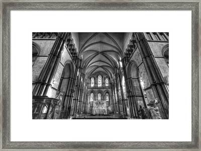 Rochester Cathedral Interior Hdr. Framed Print by David French