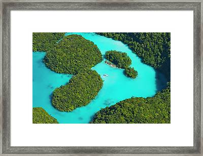 Rock Islands, Palau Framed Print by Keren Su