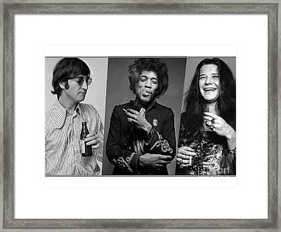 Rock N Soul Legends Framed Print by Marvin Blaine