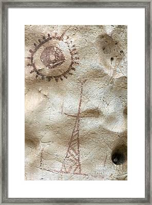 Rock Painting, Timor-leste Framed Print