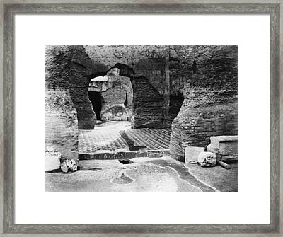 Rome Baths Of Caracalla Framed Print by Granger