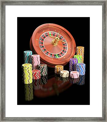 Roulette Wheel Framed Print by Ktsdesign