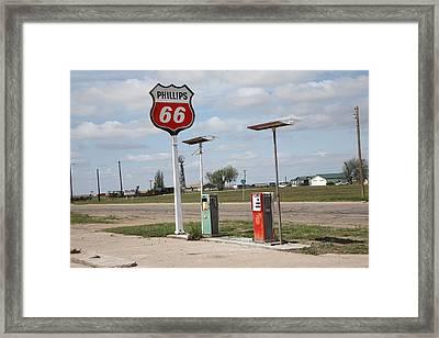 Route 66 - Adrian Texas Framed Print