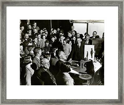 Royal Institution Christmas Lecture Framed Print