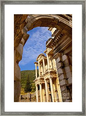 Ruins Of Ephesus Framed Print