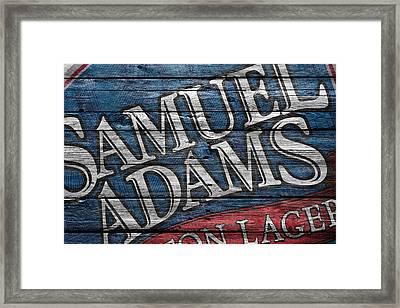 Samuel Adams Framed Print by Joe Hamilton