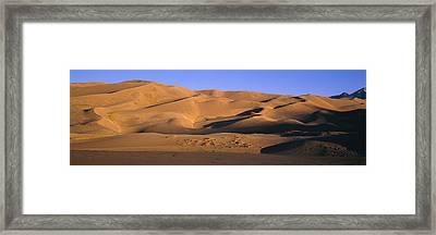 Sand Dunes In A Desert, Great Sand Framed Print