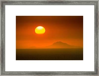 Santorini Sunset Framed Print by Bjoern Kindler
