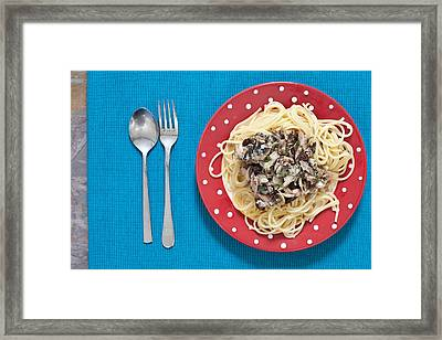 Sardines And Spaghetti Framed Print
