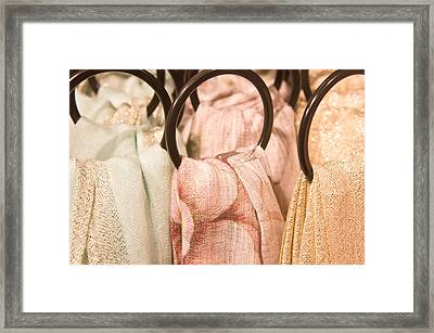 Scarves Framed Print