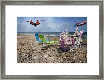Search Party Framed Print by Betsy Knapp
