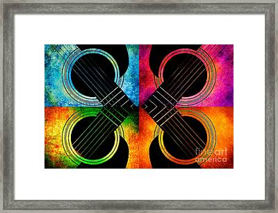 4 Seasons Guitars Abstract Framed Print