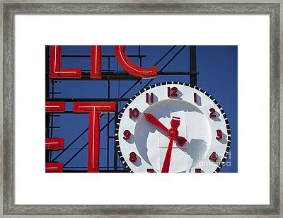 Seattle Market Sign Framed Print by Brian Jannsen