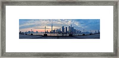 Shanghai Morning Framed Print