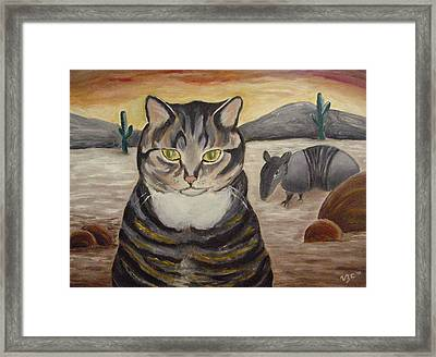 Simone And Armadillo Framed Print
