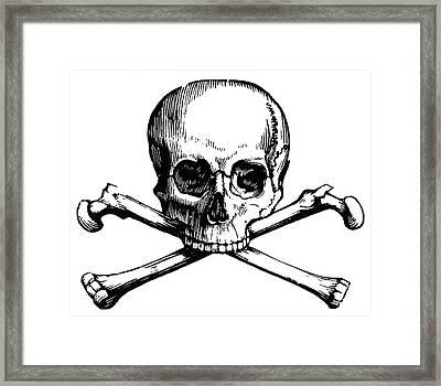 Skull And Crossbones Framed Print by Granger