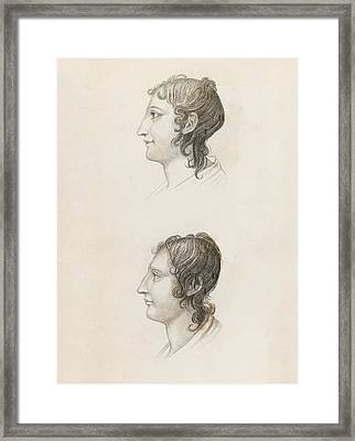Skull Comparisons In Phrenology Framed Print