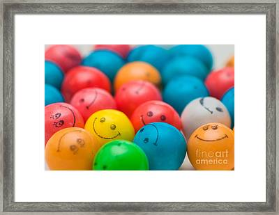 Smiley Face Gum Balls Framed Print by Amy Cicconi
