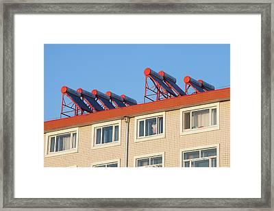 Solar Thermal Panels Framed Print
