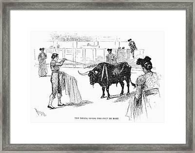 Spain Bullfighting, 1891 Framed Print