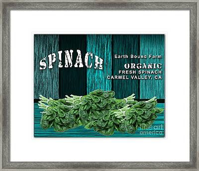Spinach Patch Framed Print