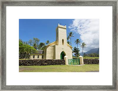 St Philomena, Father Damien's Church Framed Print by Douglas Peebles