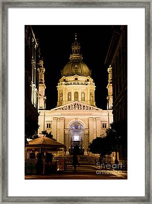 St. Stephen's Basilica In Budapest Framed Print by Michal Bednarek