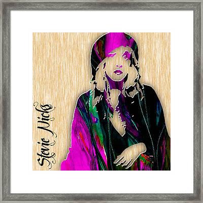 Stevie Nicks Framed Print by Marvin Blaine