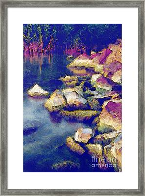 Stones Framed Print by Odon Czintos