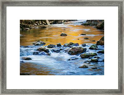Stream Great Smoky Mountains Painted Framed Print by Rich Franco