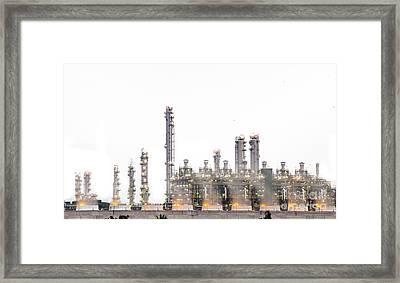 Stream Power Plant  Framed Print by Anek Suwannaphoom