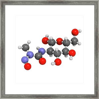 Streptozotocin Cancer Drug Molecule Framed Print