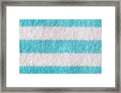 Striped Cloth Framed Print
