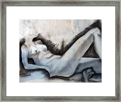Study Framed Print by Corina Bishop